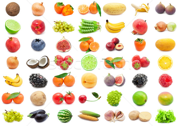 плодов овощей коллекция различный изолированный белый Сток-фото © sailorr