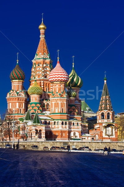 Saint Basil Cathedral on Red Square Stock photo © sailorr