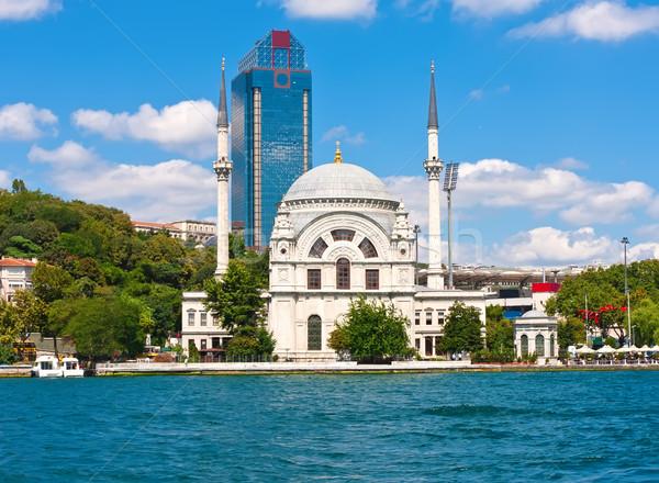 Istanbul view cielo mare ponte urbana Foto d'archivio © sailorr