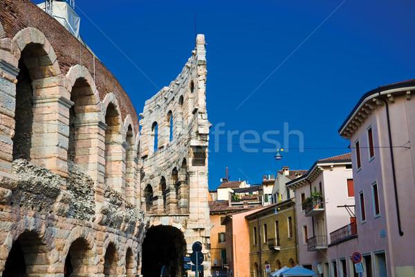 Arena verona ruínas romano Itália luz Foto stock © sailorr