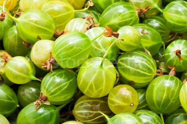 свежие зеленый полный кадр продовольствие фрукты Сток-фото © sailorr