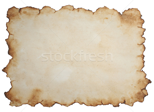 Papel velho isolado branco papel mapa fundo Foto stock © sailorr