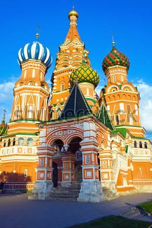 大聖堂 赤の広場 モスクワ ロシア 建物 市 ストックフォト © sailorr