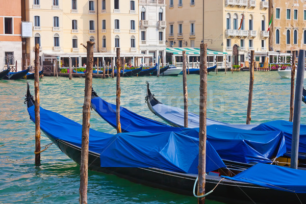Gondolas in Venice Stock photo © sailorr