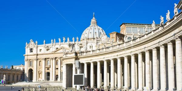 Beroemd katholiek basiliek lichten marmer religieuze Stockfoto © sailorr