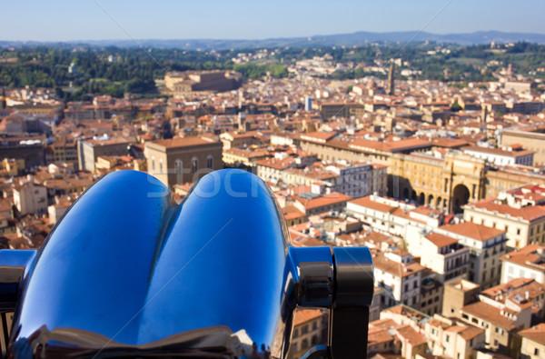 Сток-фото: Флоренция · красивой · мнение · Тоскана · Италия · небе