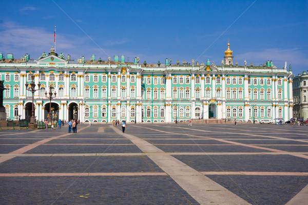 博物館 冬 宮殿 ロシア 空 ストックフォト © sailorr
