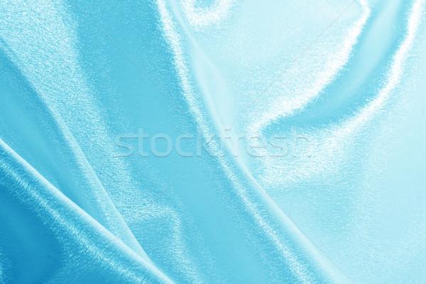 藍色 絲綢 抽象 粉紅色 布 美麗 商業照片 © sailorr