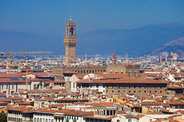 Palazzo Vecchio in Florence Stock photo © sailorr