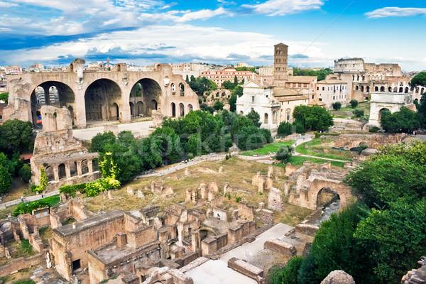 Romaine forum anciens ruines Rome Italie Photo stock © sailorr