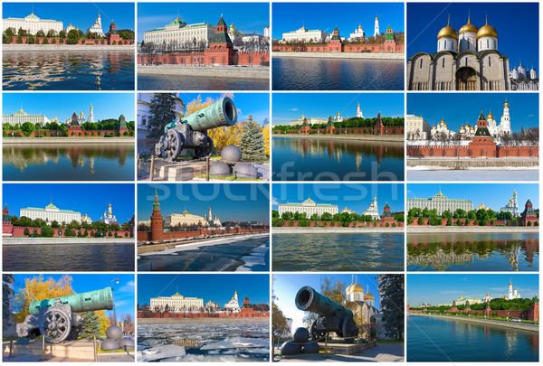 Moskou Kremlin mooie foto's rivier Rusland Stockfoto © sailorr