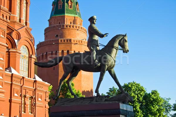 Georgy Zhukov monument Stock photo © sailorr