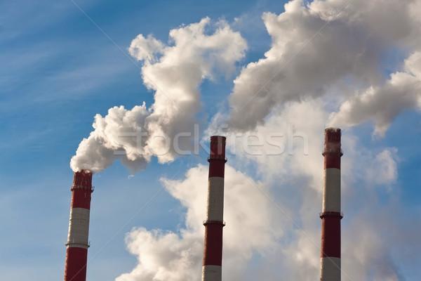 Stockfoto: Lucht · verontreiniging · industriële · rook