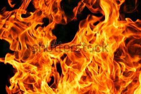 Płomień pomarańczowy palenie czarny charakter czerwony Zdjęcia stock © sailorr