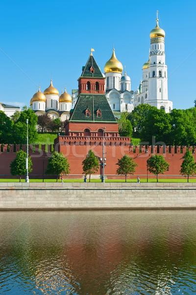 Moskou Kremlin mooie rivier Rusland Stockfoto © sailorr