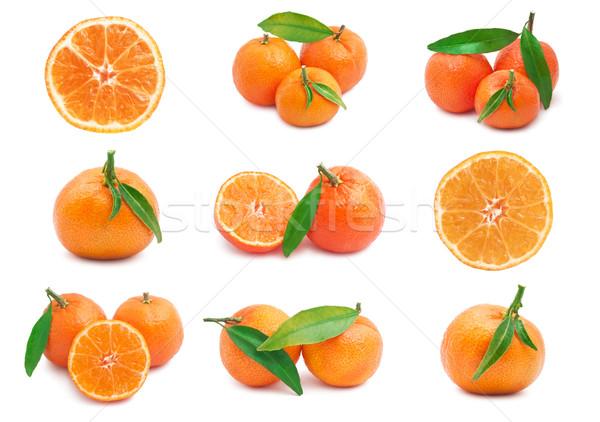 コレクション ジューシー 孤立した 白 食品 オレンジ ストックフォト © sailorr