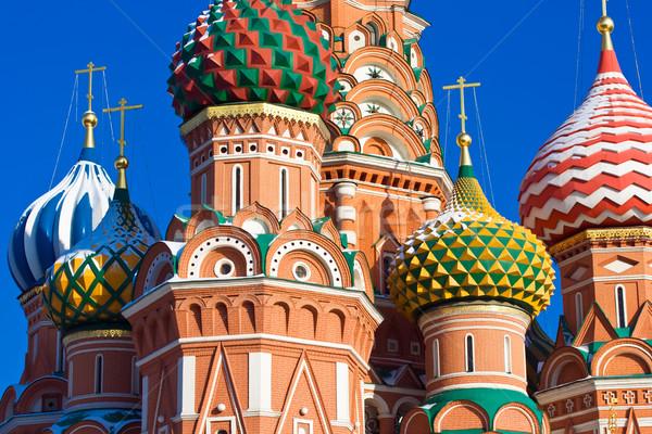 Szent katedrális részletek Vörös tér Moszkva Oroszország Stock fotó © sailorr