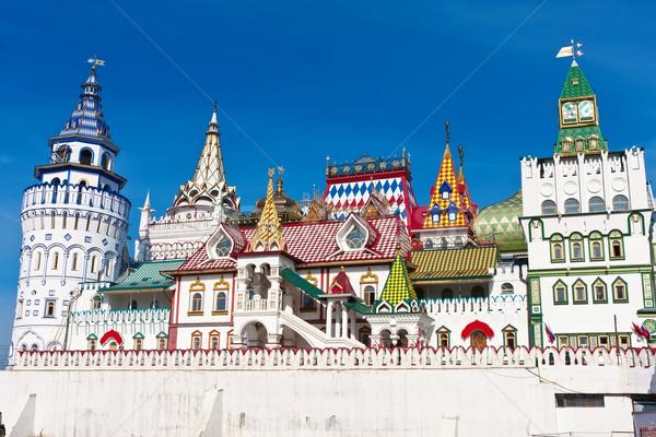 Kremlin güzel görmek Moskova Rusya duvar Stok fotoğraf © sailorr