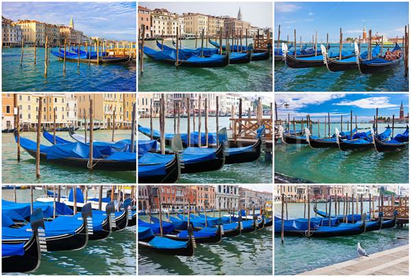 Venecia hermosa vista famoso veneciano Italia Foto stock © sailorr