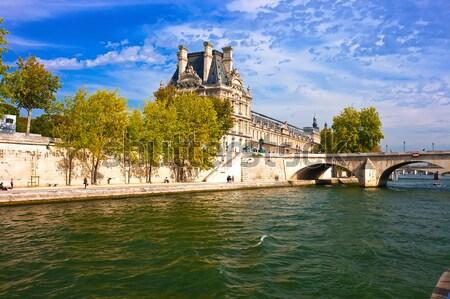 Panjurlu pencere müze güzel görmek Paris Fransa Stok fotoğraf © sailorr