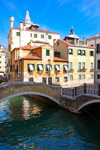 Venezia view bella colorato veneziano canale Foto d'archivio © sailorr