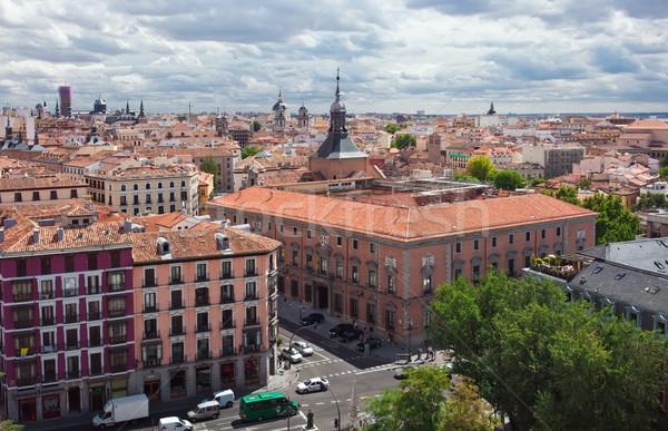 マドリード 美しい 表示 大聖堂 スペイン 車 ストックフォト © sailorr