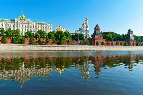 Сток-фото: Москва · Кремль · красивой · мнение · реке · Россия