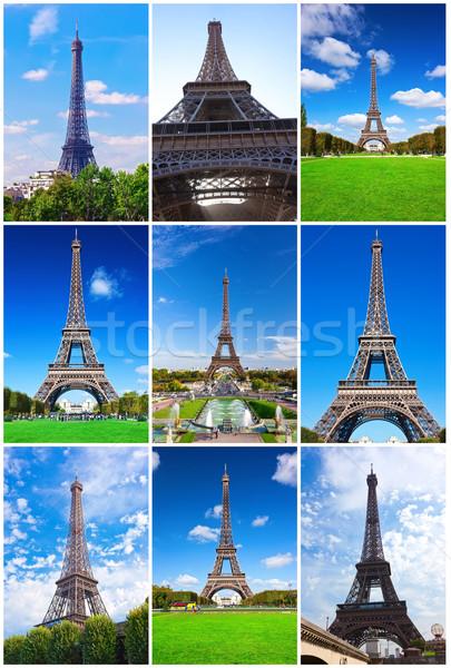 Torre Eiffel Parigi bella view noto Francia Foto d'archivio © sailorr