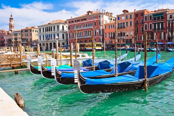 ストックフォト: ベニスの · 美しい · ヴェネツィア · イタリア · 空 · 家