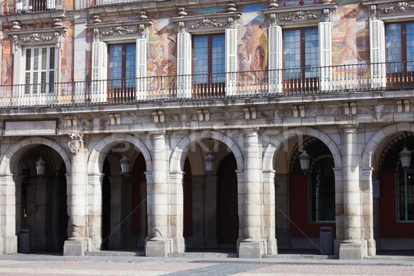 La noto Madrid Spagna casa città Foto d'archivio © sailorr