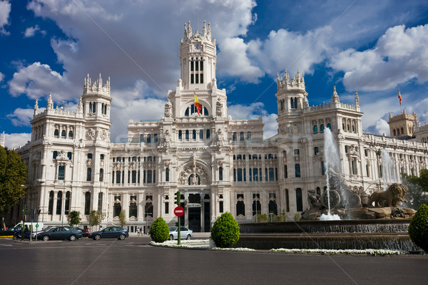 Palace in Madrid Stock photo © sailorr