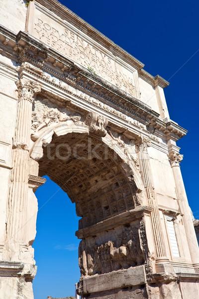 ローマ フォーラム アーチ 有名な 古代 ローマ ストックフォト © sailorr