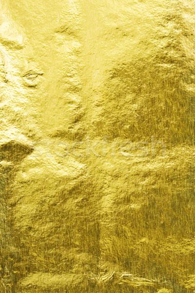 Goud abstract textuur achtergrond metaal gouden Stockfoto © sailorr