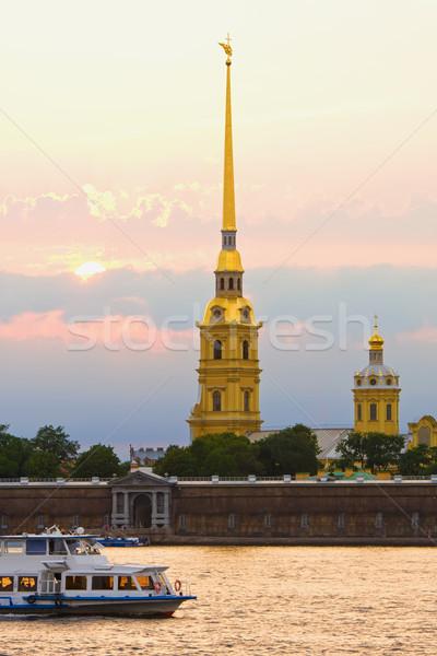 Twierdza święty niebo miasta wygaśnięcia kościoła Zdjęcia stock © sailorr