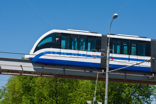 Monorail train modernes rapide chemin de fer Moscou Photo stock © sailorr
