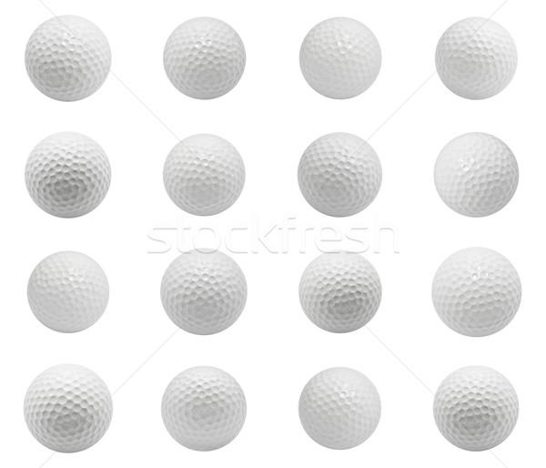 гольф коллекция изолированный белый клуба Сток-фото © sailorr