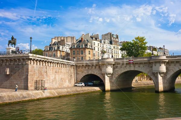 красивой мнение новых моста Париж Франция Сток-фото © sailorr