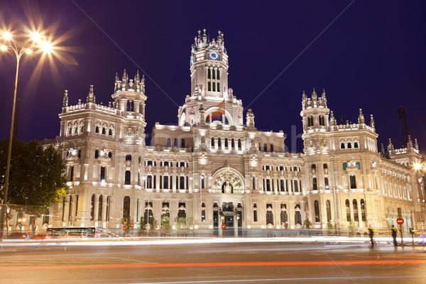Pałac Madryt centralny poczta placu Hiszpania Zdjęcia stock © sailorr