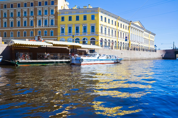 Canal hermosa Rusia primavera agua Foto stock © sailorr