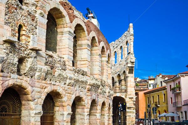 Romano arena verona ruínas Itália luz Foto stock © sailorr