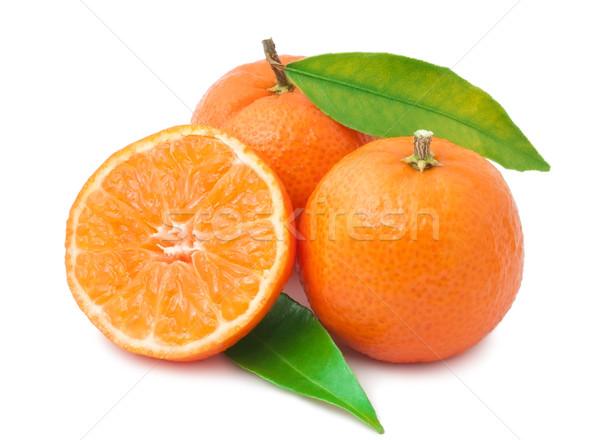 Jugoso aislado blanco alimentos naranja frescos Foto stock © sailorr