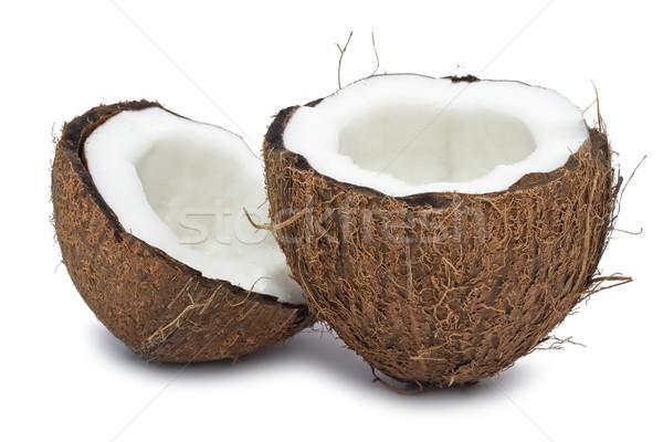 Coco perfeito fresco isolado branco comida Foto stock © sailorr