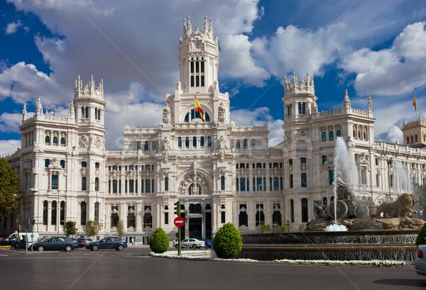宮殿 マドリード セントラル 広場 スペイン ストックフォト © sailorr