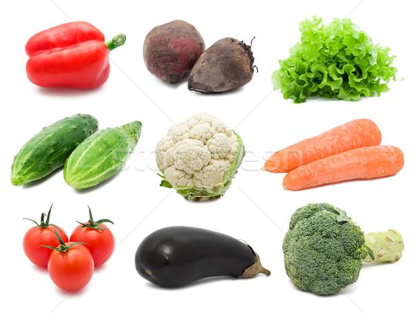 Hortalizas establecer saludable aislado blanco alimentos Foto stock © sailorr