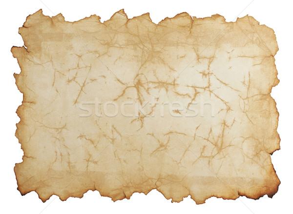 Stockfoto: Oud · papier · geïsoleerd · witte · papier · textuur · muur