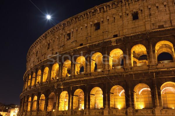 Colosseum Roma güzel görmek ünlü eski Stok fotoğraf © sailorr