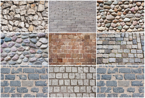 Piedra pavimento hermosa fotos edad naturales Foto stock © sailorr