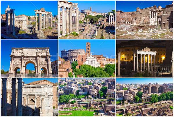 Romano fórum ruínas famoso antigo Roma Foto stock © sailorr