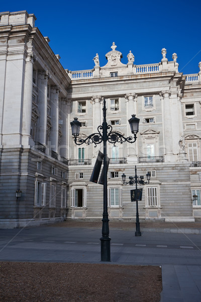 Real palacio Madrid hermosa vista famoso Foto stock © sailorr
