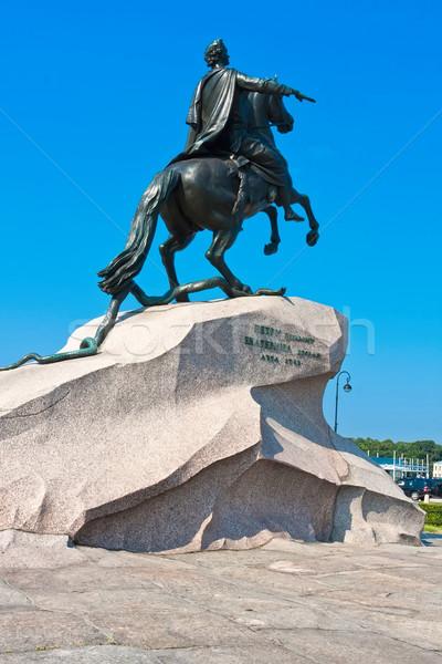 Primero caballo azul rock piedra Foto stock © sailorr